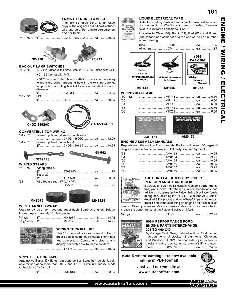Page 54 Of Ford Falcon Ranchero Comet Cyclone Parts 64 Wiring Diagram P 55