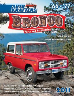 Bronco 66-77 Weatherstrip, Interior, Exterior, Engine 2011