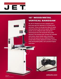 18 Metal/Wood Vertical Bandsaw 2017