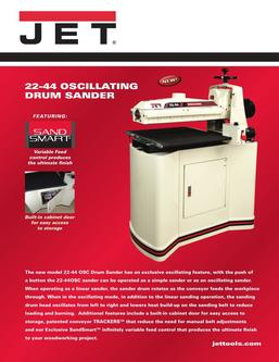 22-44 Oscillating Drum Sander Kit with Closed Stand 2017