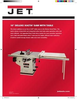 Deluxe Xacta® SAW 3HP, 1Ph, 50 inch Rip 2017