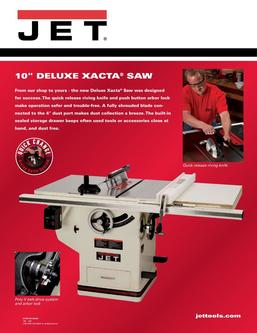 Deluxe Xacta® SAW 3HP, 1Ph, 30 inch Rip 2017