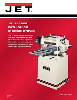 15 CS Planer with Quick Change Knives 2017