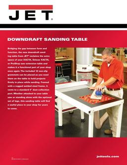 JET Downdraft Table For Proshop or XactaSaws with Legs 2017