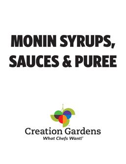 Monin Syrups, Purees and Sauces 2017