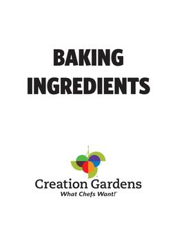 Baking Ingredients 2017