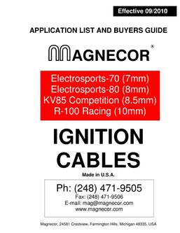 Ignition Cables 09/2010