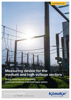 Measuring device for the medium and high voltage sectors 2017