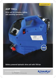 Battery powered hydraulic drive unit - AHP 700-L 2017