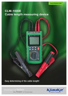 Cable length measuring device - CLM-1000E 2017