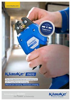 Electromechanical crimping tool Klauke micro - EK 50ML 2017