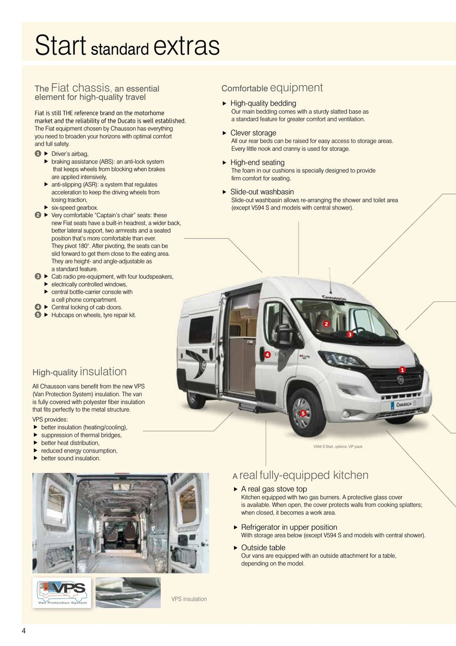 Camping Vans 2018 by Camping-cars Chausson