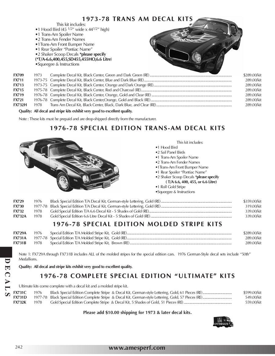 Page 242 of 2010 Pontiac Firebird/Trans Am Parts & Accessories