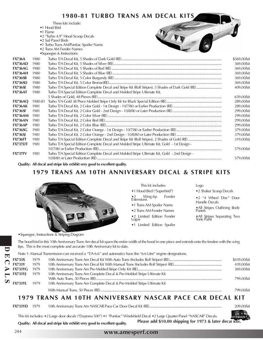 Page 243 of 2010 Pontiac Firebird/Trans Am Parts & Accessories