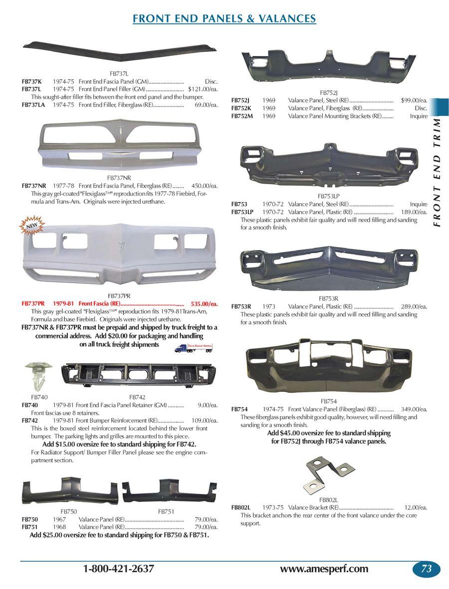 Page 73 of 2012 Pontiac Firebird/Trans Am Parts