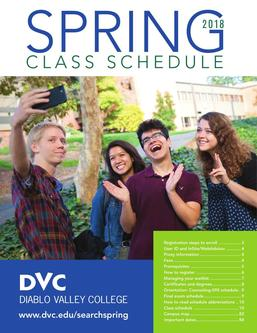 DVC class schedules Spring 2018