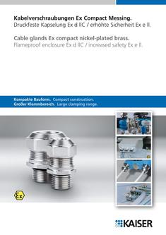 Cable glands Ex compact nickel-plated brass 2011
