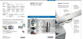 Syntec® cable gland 2009