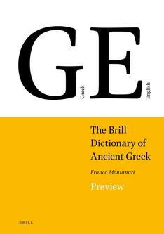 The Brill Dictionary of Ancient Greek 2018