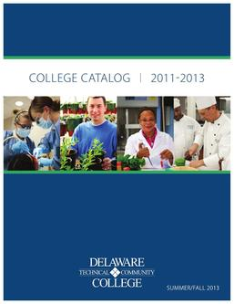 Summer/Fall 2013 College Catalog
