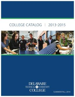 Summer/Fall 2014 College Catalog