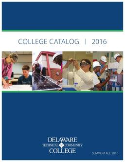 Summer/Fall 2016 College Catalog