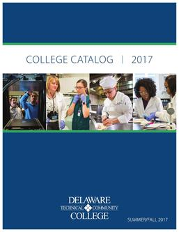 Summer/Fall 2017 College Catalog
