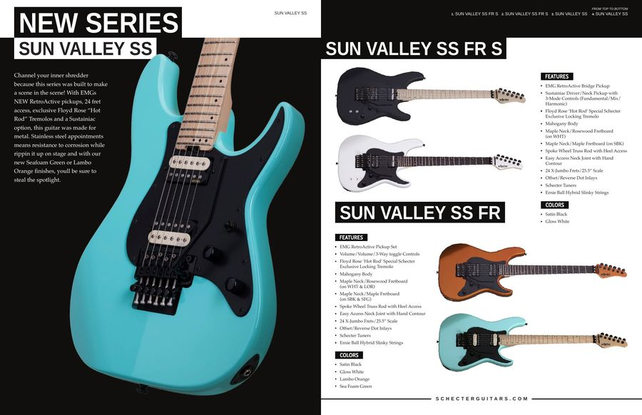 Guitars 2017 by Schecter Guitars on