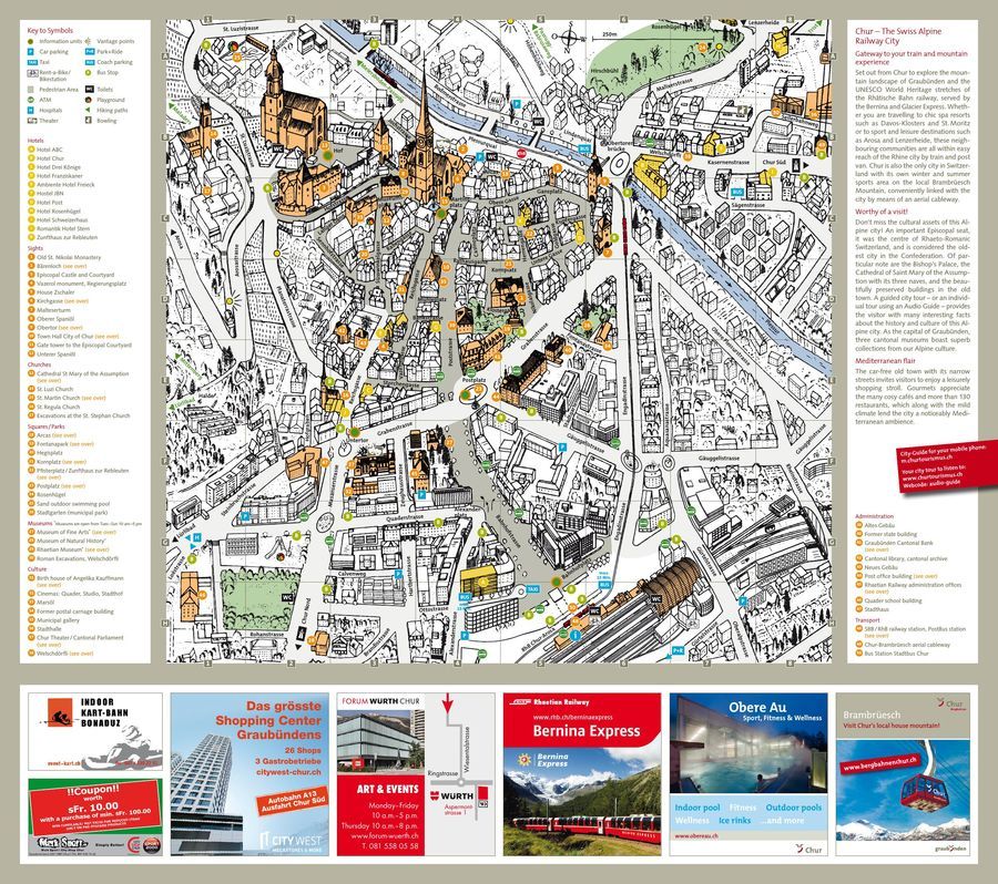 Chur City Map 2018 by Chur Tourism