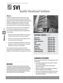 2010 - 2012 Seattle Vocational Institute
