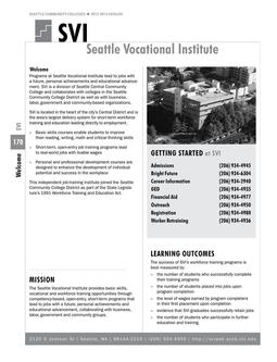 2012 - 2014 Seattle Vocational Institute