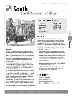 2012 - 2014 South Seattle College
