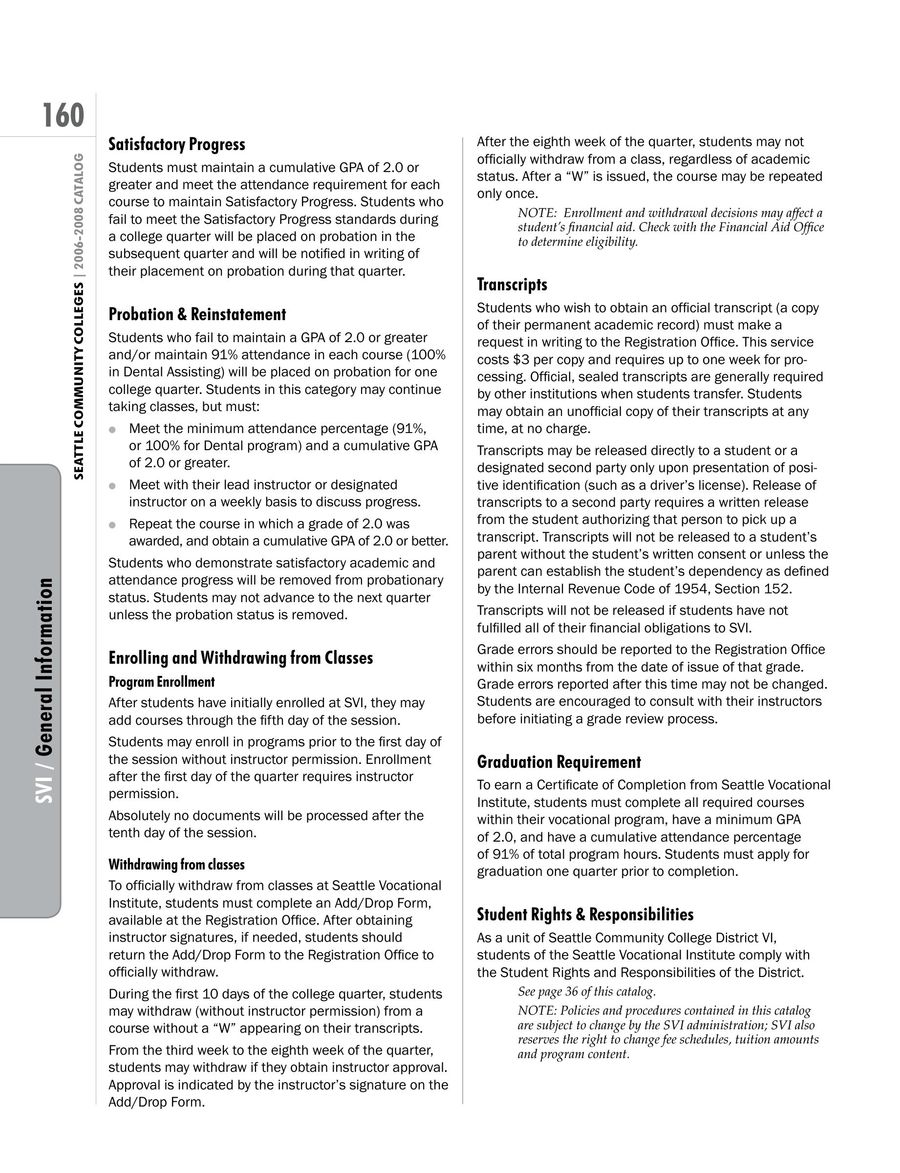 Page 4 of 2006 - 2008 Seattle Vocational Institute