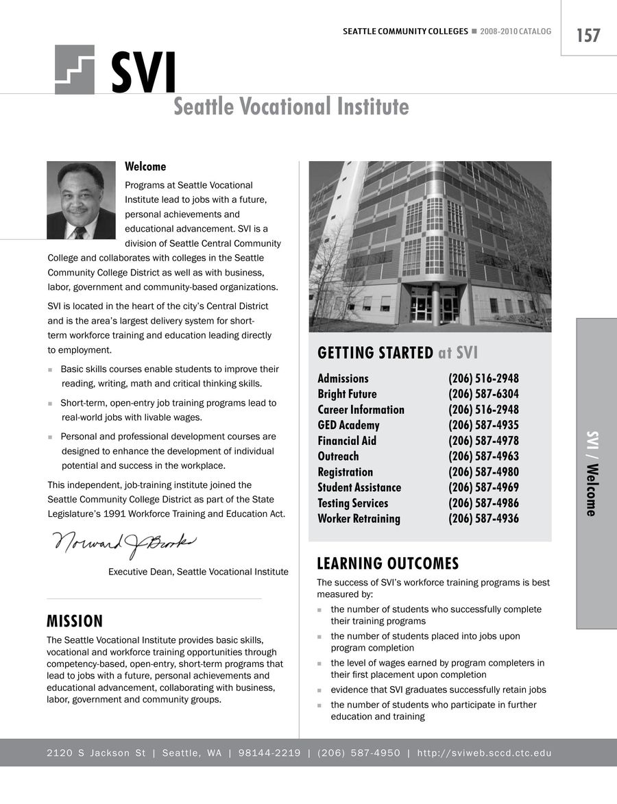 2008 2010 Seattle Vocational Institute By Seattle Colleges