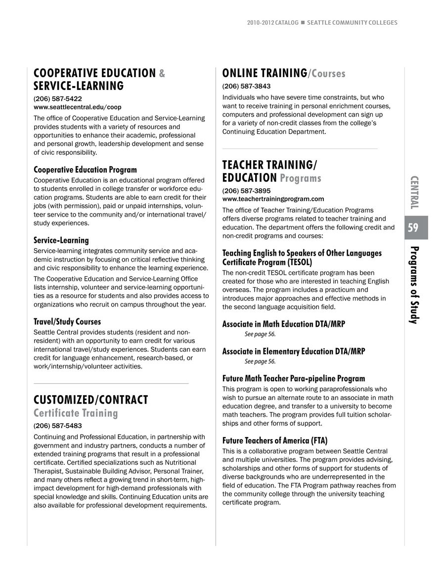 Page 14 Of 2010 2012 Seattle Central College
