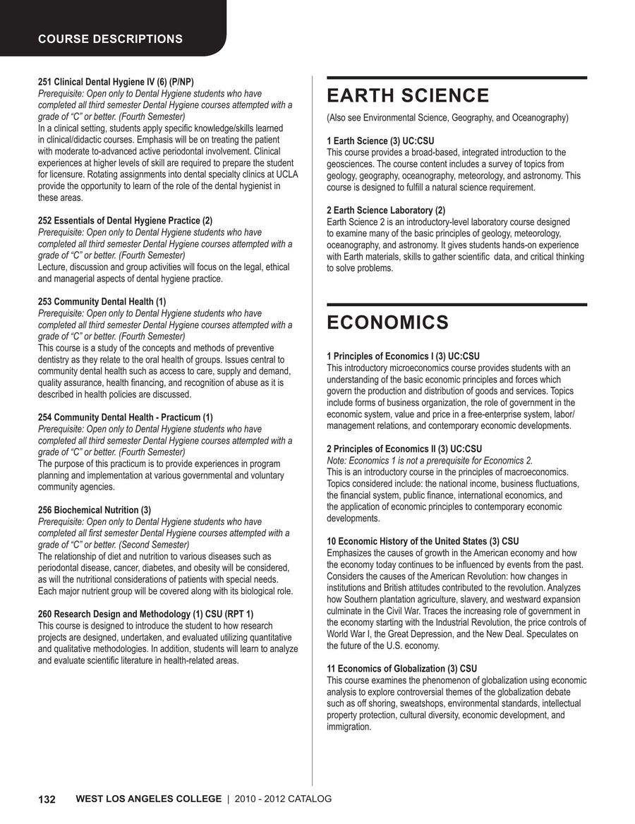 E Course Info 2010-2012 by West Los Angeles College