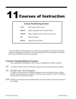 Courses of Instruction 2017/2018
