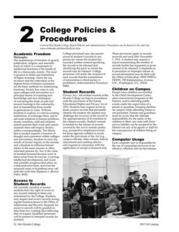 College Policies and Procedures 2017/2018
