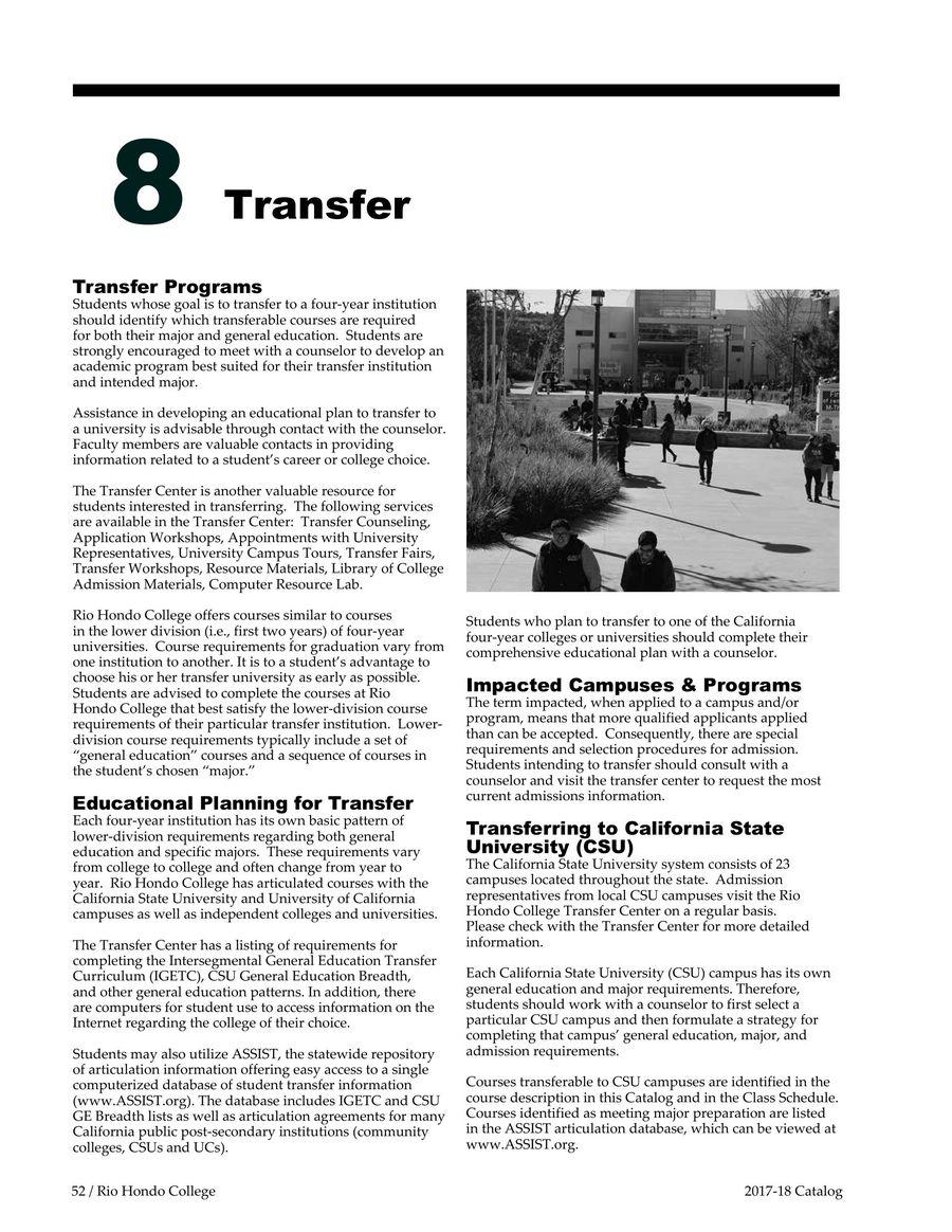 Transfer 20172018 By Rio Hondo College