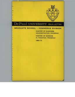 Kellstadt Graduate School of Business Full Year 1969-1970