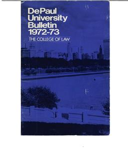 College of Law Full Year 1972-1973