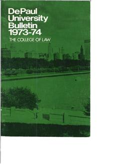 College of Law Full Year 1973-1974