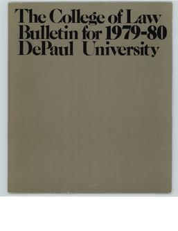 College of Law Full Year 1979-1980