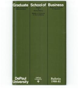 Kellstadt Graduate School of Business Full Year 1980-1981