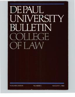 College of Law Full Year 1984-1985