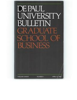 Kellstadt Graduate School of Business Full Year 1984-1985