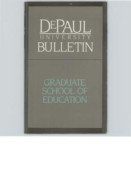 School of Education Graduate Full Year 1985-1986