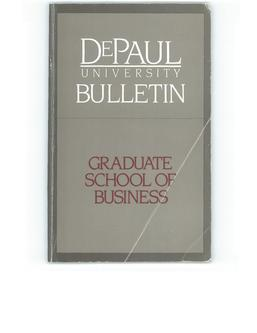 Kellstadt Graduate School of Business Full Year 1985-1986