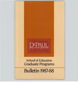 School of Education Graduate 1987-1988