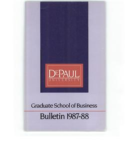 Kellstadt Graduate School of Business 1987-1988